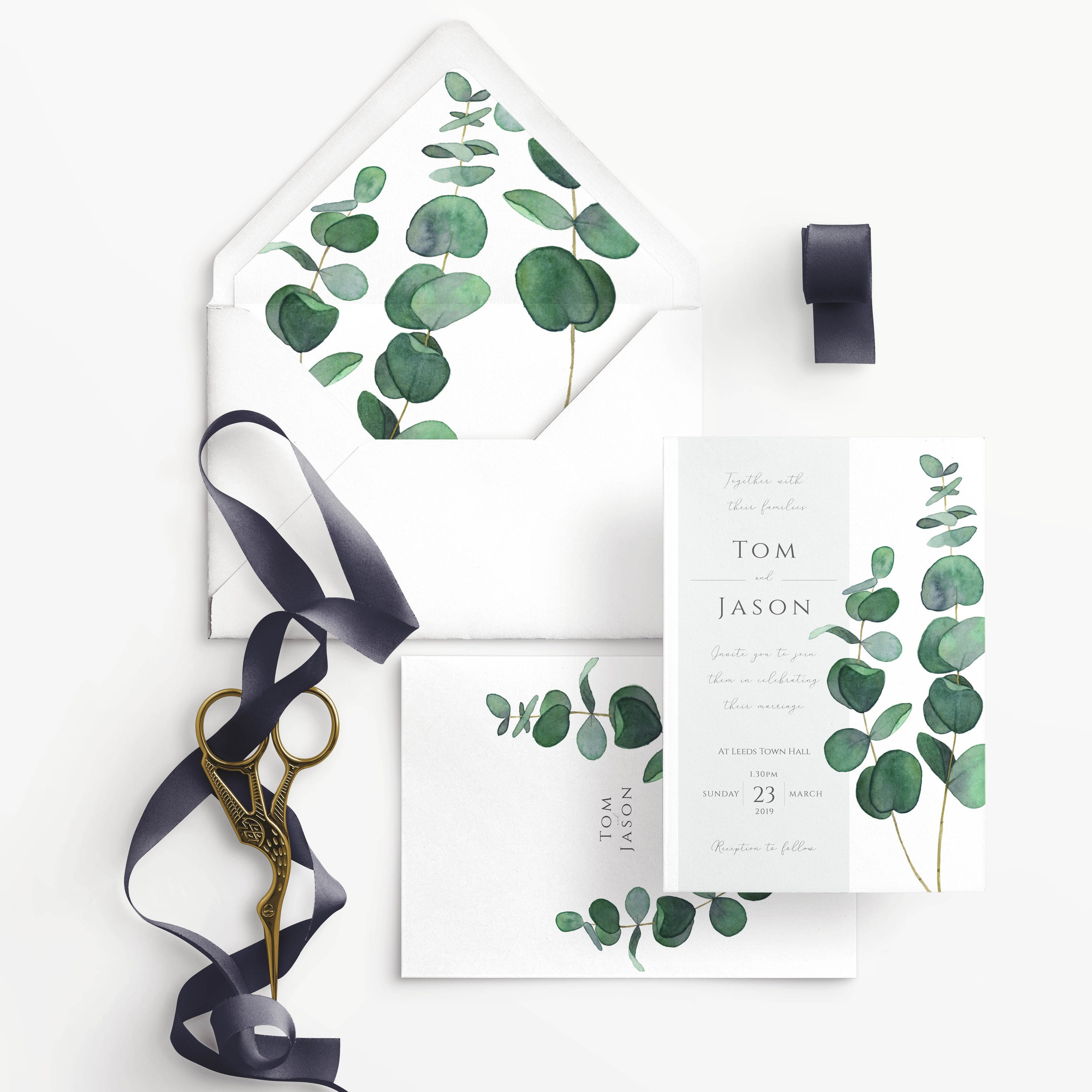 EUCALYPTUS - One of our hand-painted House Collection designs.