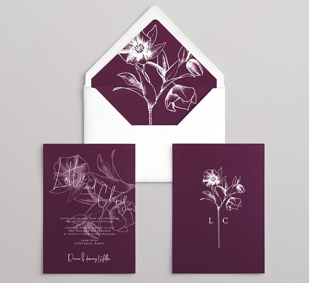 Hellebore Wedding Stationery