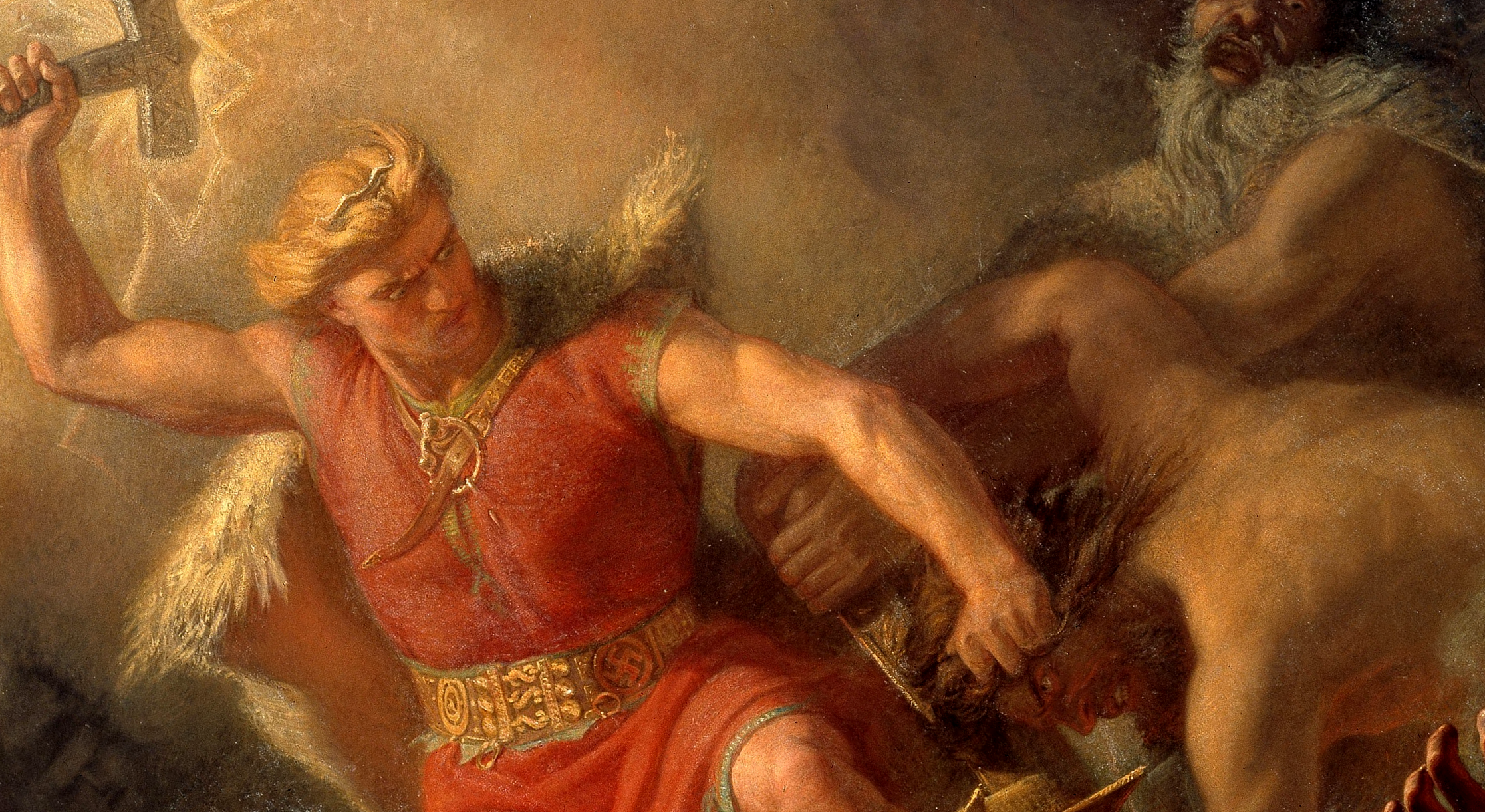 Thor's Fight with the Giants (Detail), Mårten Eskil Winge.