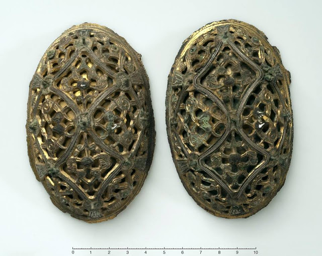 Just two of the many stolen tortoise brooches. Courtesy Bergen University Museum