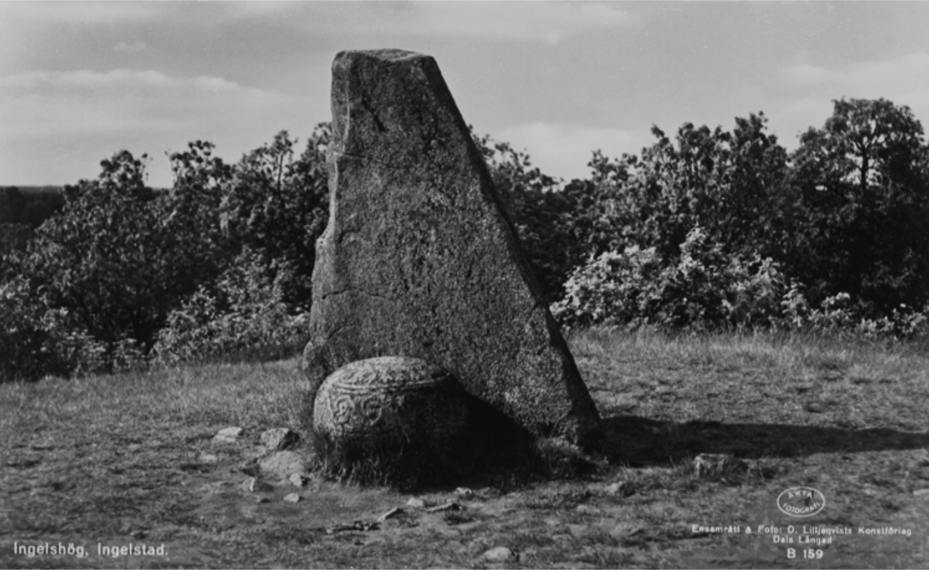 Grave orb at Inglinge Hög, Sweden. Photo: Smålands Museum
