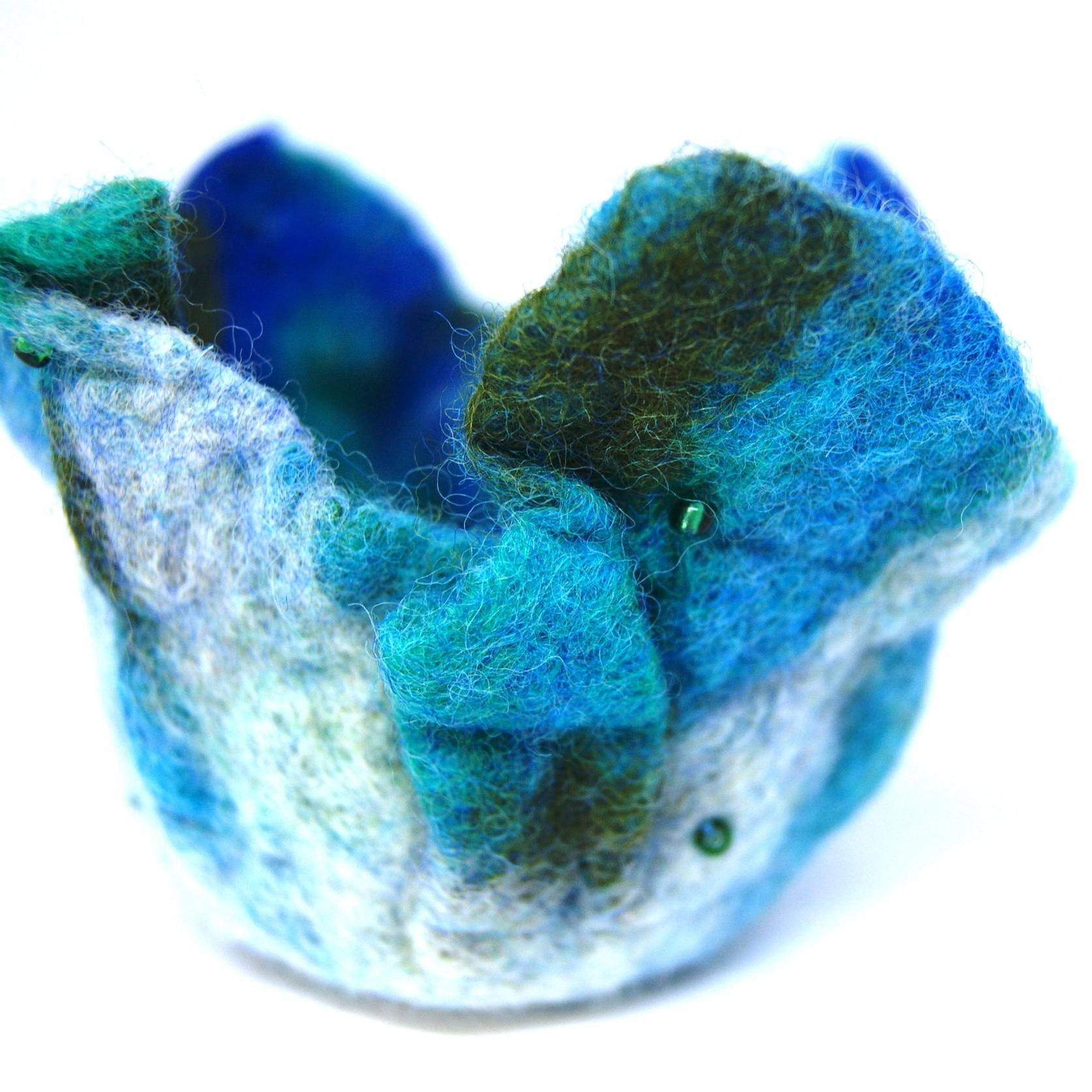 Wet felting - blue bowl.JPG