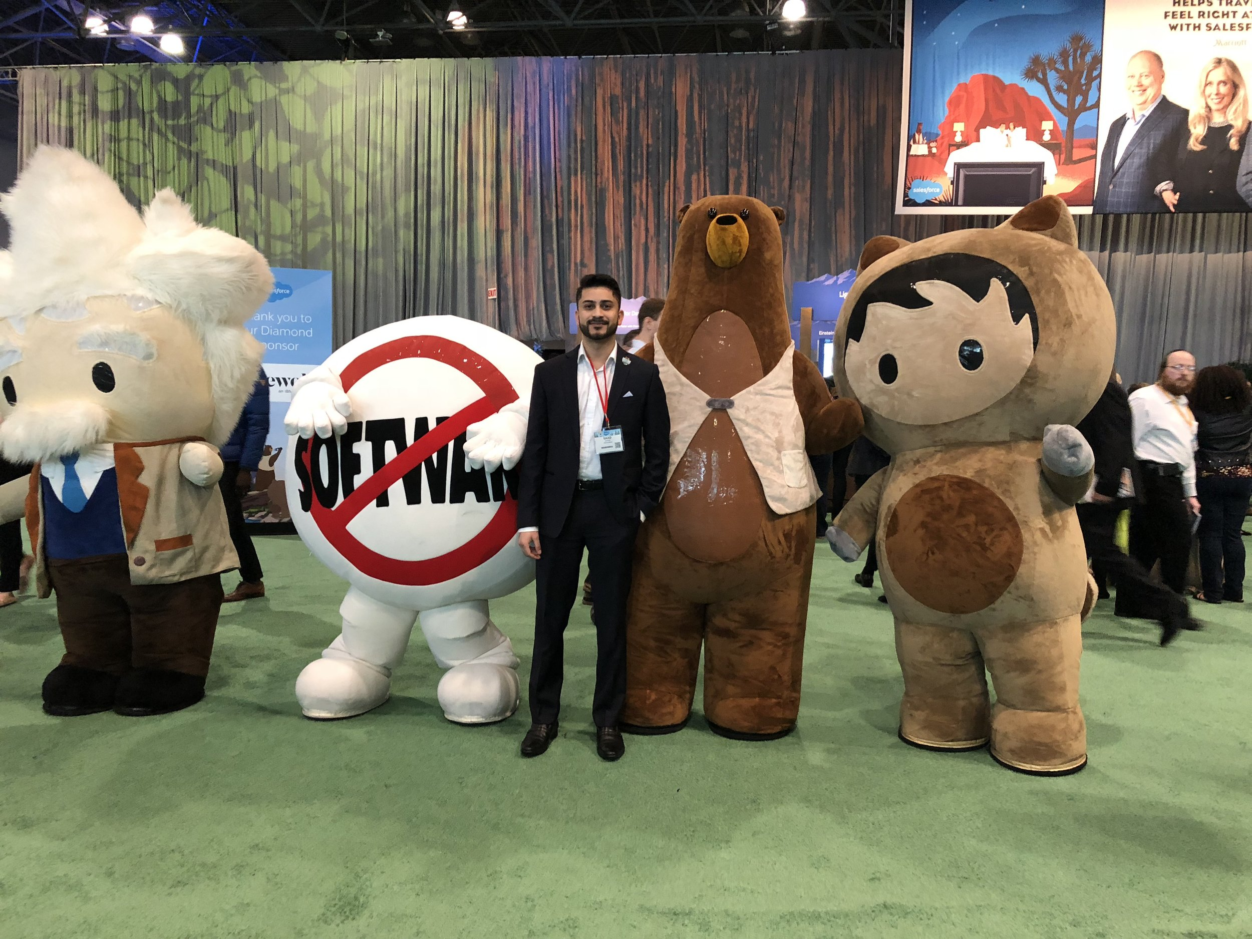 Saad Zafar,Business Development Manager at the Salesforce World Tour in New York City.