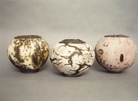 raku fired wheel thrown stonware