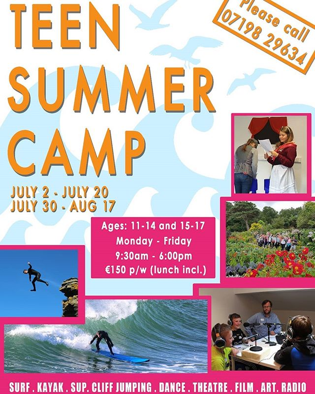 Probably the best summer camp in Ireland🍀 🏄‍♀️🚴‍♂️🏊‍♂️🚃💃🏐🏓🥅🏄‍♂️🎳🤹‍♂️⛹️‍♀️🎲🌍🎨🎢🚣‍♀️ * * * #summercamp #summercampireland #ireland #donegal #bundoran #surf #kayak #sup #dance #artsandcrafts #radio #creativewriting #filmmaking #teamsports #teambuilding #teamchallenges