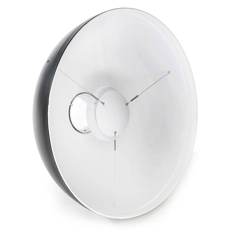En hvid beauty dish, dette er min foretrukne reflektor.