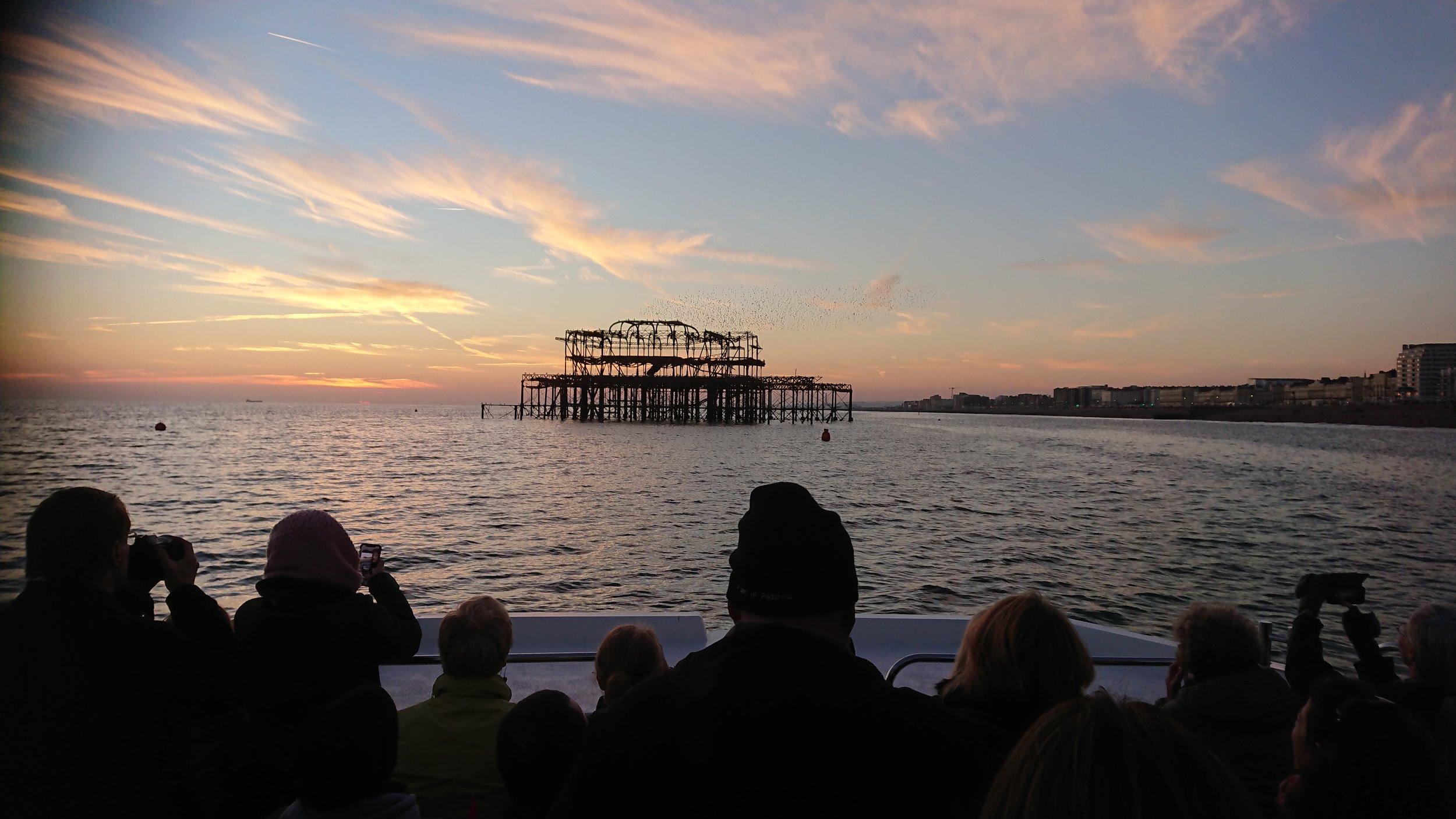 Enjoy panoramic sunset views of the Brighton seafront.