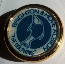 1970's: The Brighton and Hove football club briefly changed their logo to a dolphin crest, matching their nickname of 'The Dolphins'