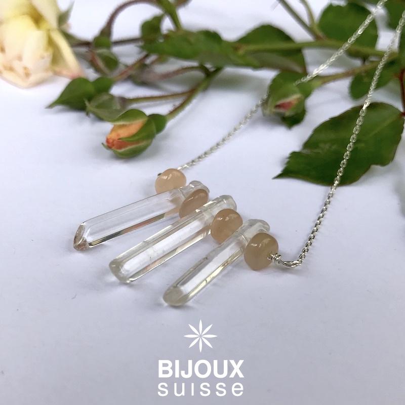 Collier pierre de lune et quartz - bijoux suisse .JPG