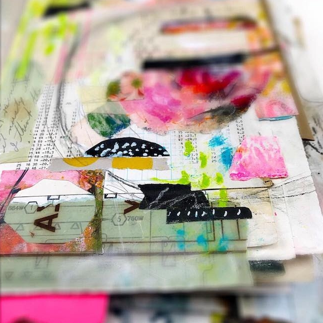 Art by Roben-Marie Smith. #artist #mixedmedia #abstract #artjournaling @robenmarie