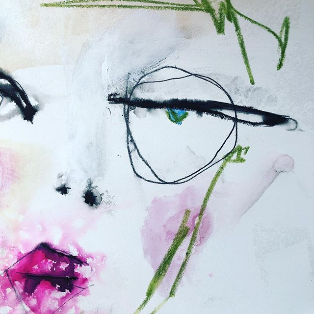 Mixed Media art by Kristin Peterson. #alteredstatesstudio #mixedmedia #art #artfaces @kristinpeterson