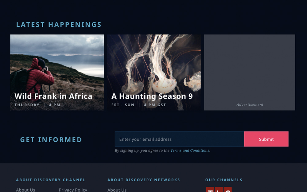 Discovery Channel Ad Component