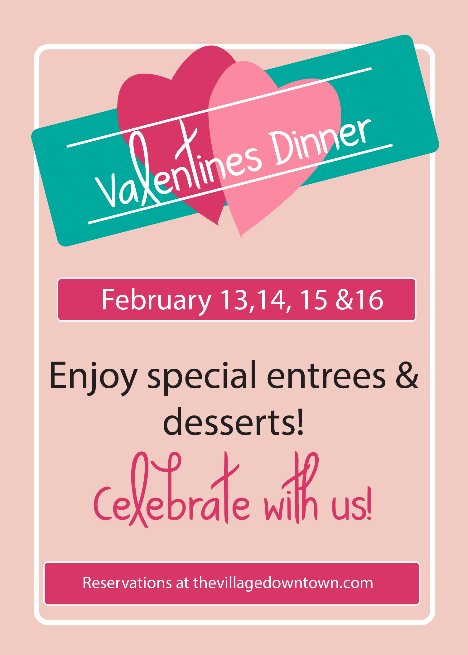 Our Valentine's Dinner Special! -