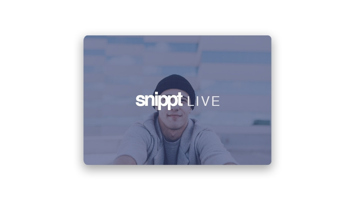 - Snippt Live is the perfect tool to break the fourth wall with online shoppers. From behind the scenes to unveiling of a new product, snippt Live changes the way we connect with users. Building a one - to - one connection with a brand and its user is vital for engagement.