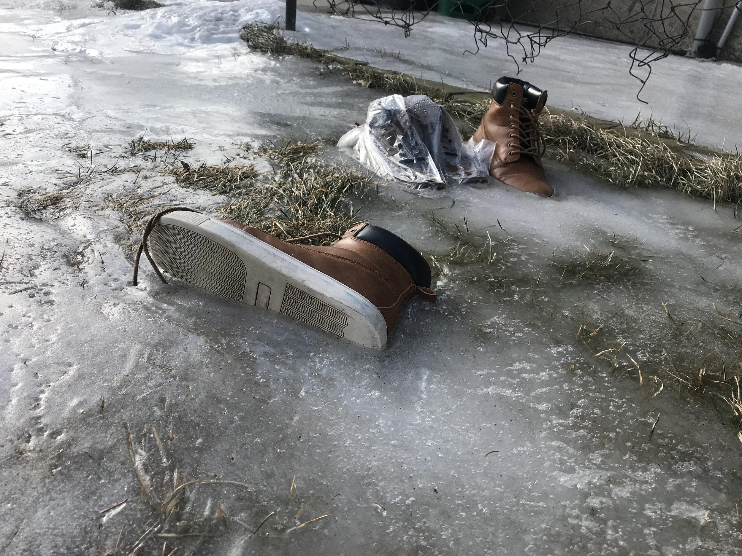 Footwear emerging from winter hibernation