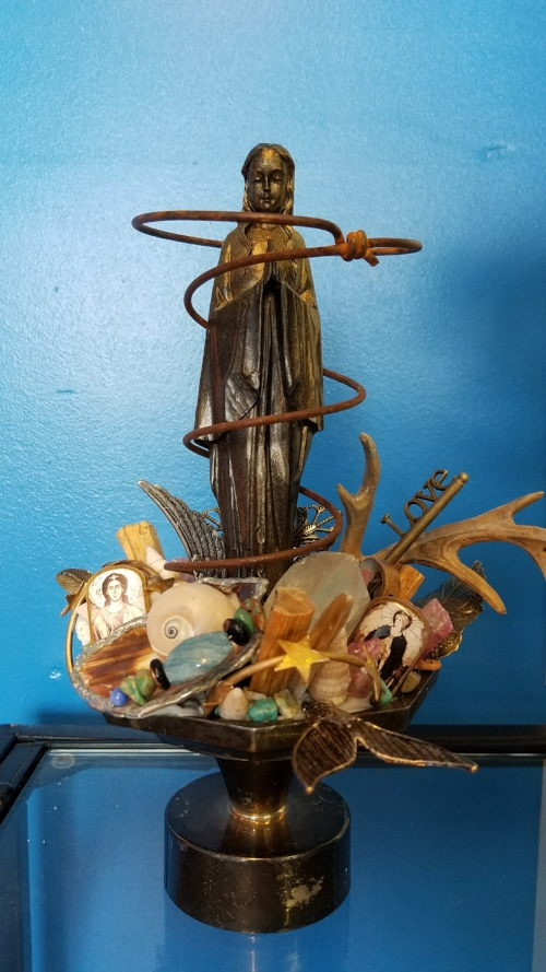 2018 SOLD, Assemblage Art by Marcia Hahn