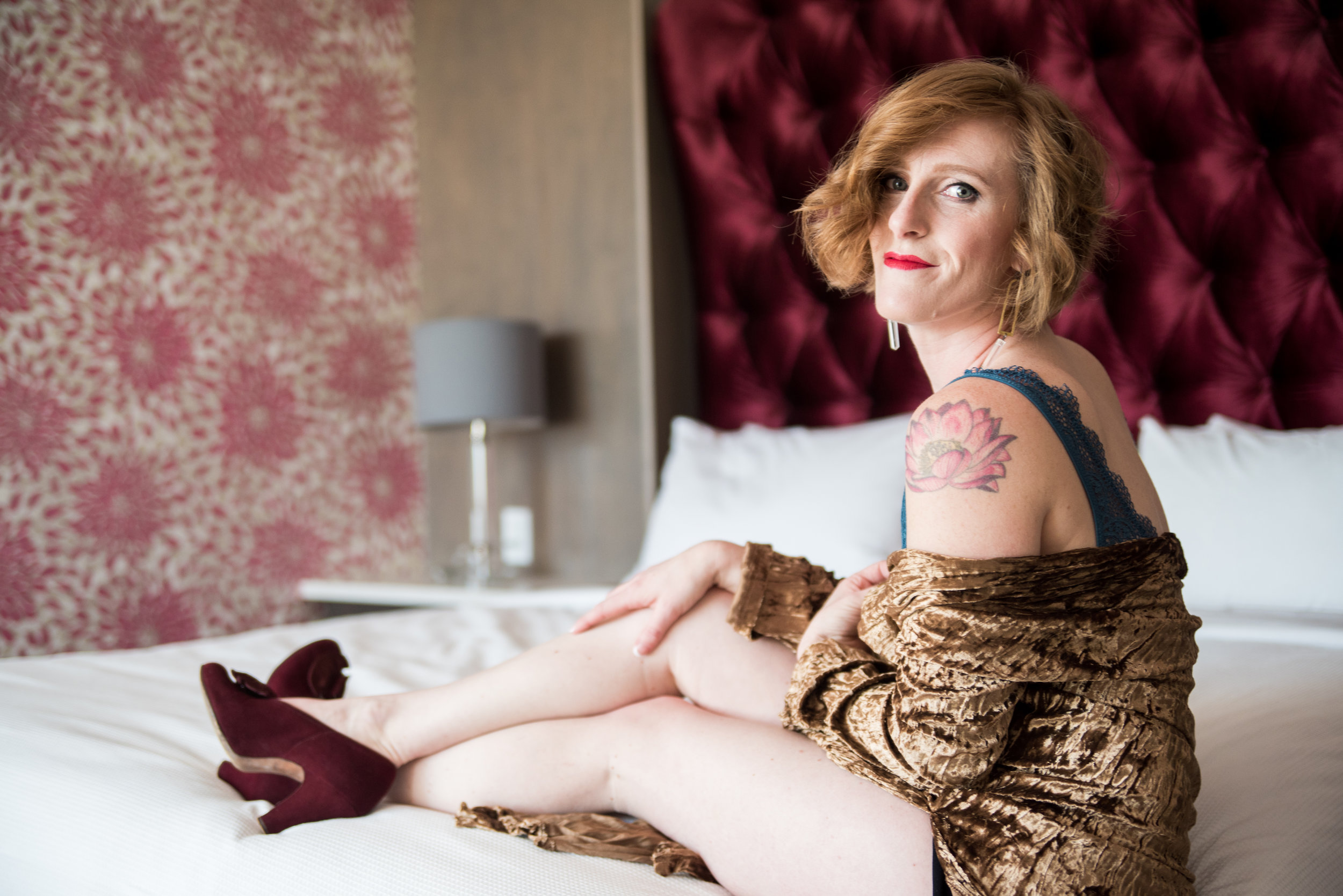 Montford Rooftop Bar_Styled Elopement_AEP-103 just bloom together boudoir with vintage shoes and robe.jpg