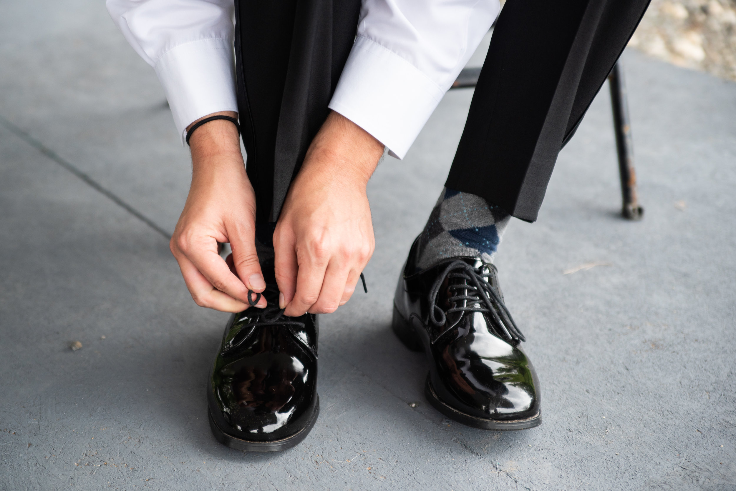 Salvage Station Styled Shoot_ AEP-222 Michael ties his shoes just bloom together styling.jpg