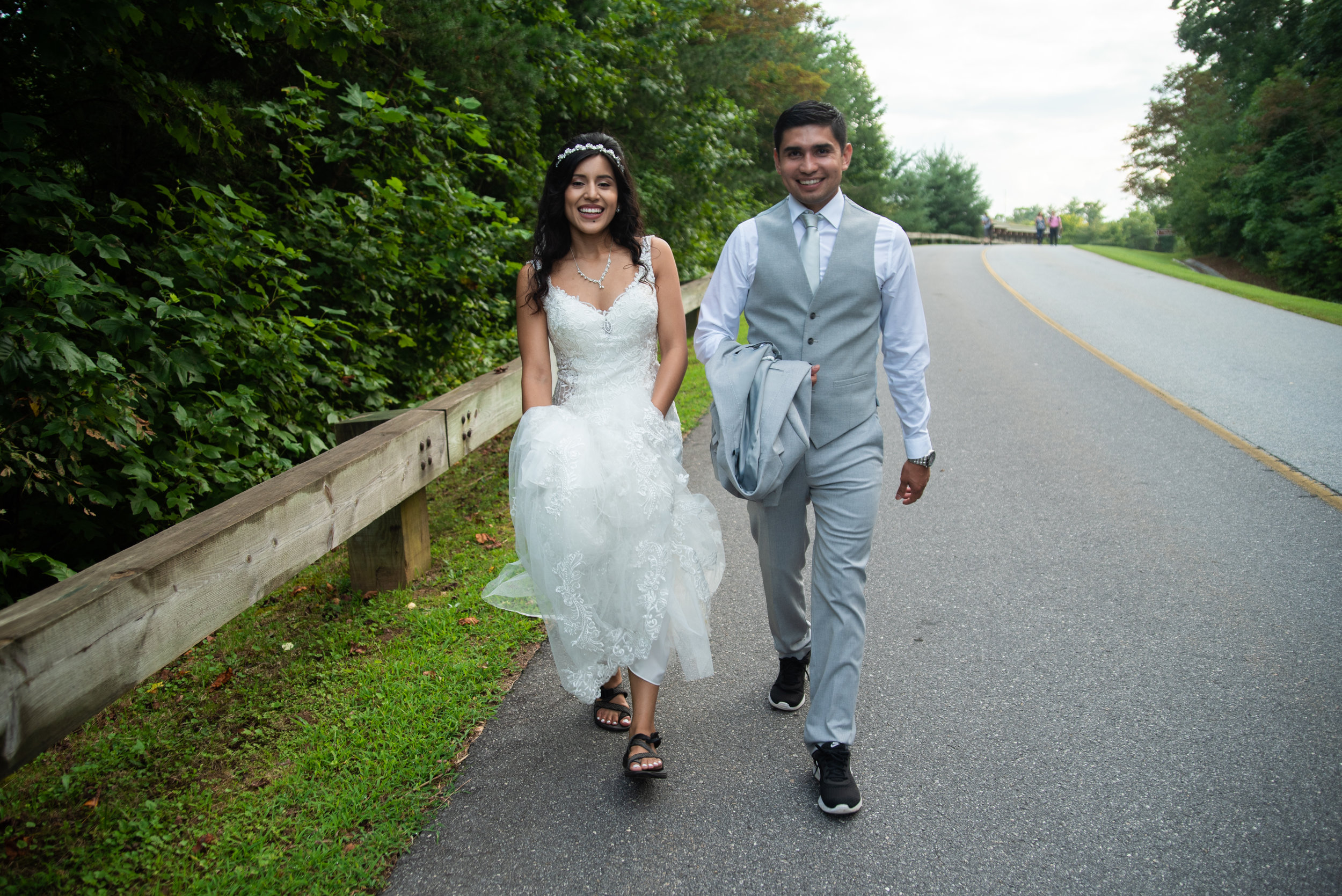 Tip #5 Practice. Practice. Practice. Walk in your shoes AND wedding ensemble, especially if you are not used to walking with a train. Stepping on the hem of your gown or garment may leave you with a hole or rip in the fabric (or heaven forbid leave you tripping and falling). -