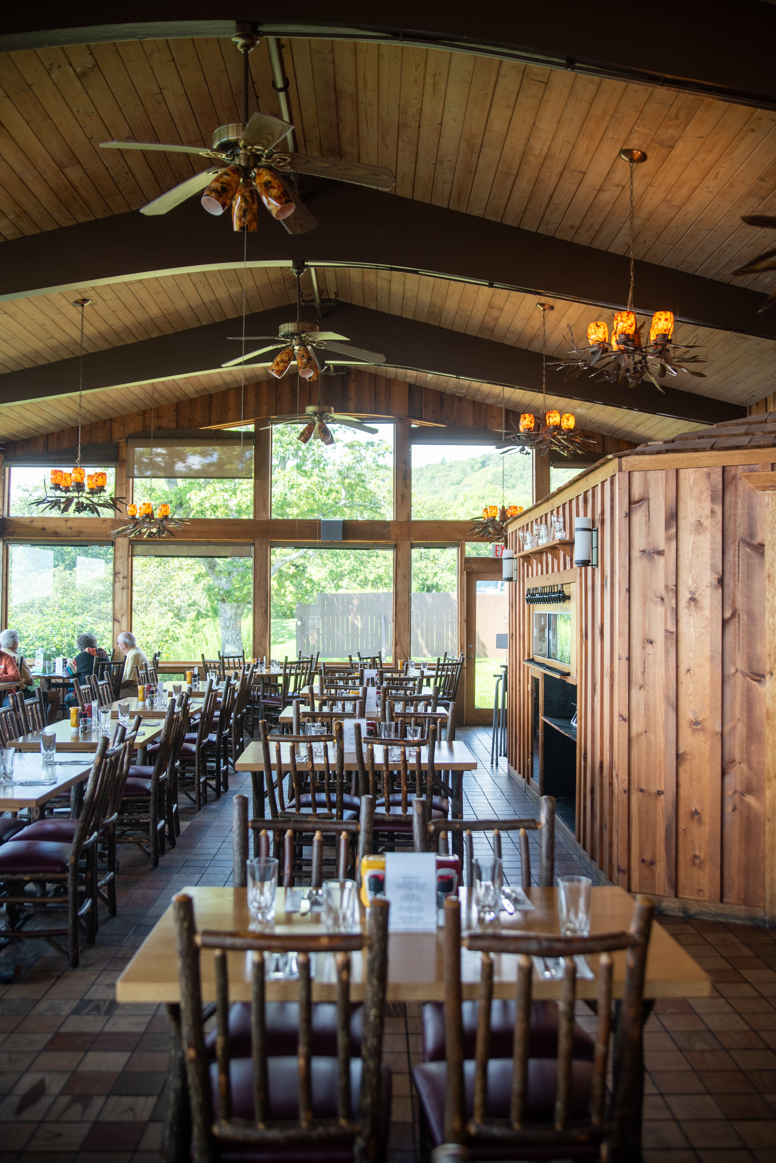 Dining area of the Pisgah Inn on Blue Ridge Parkway