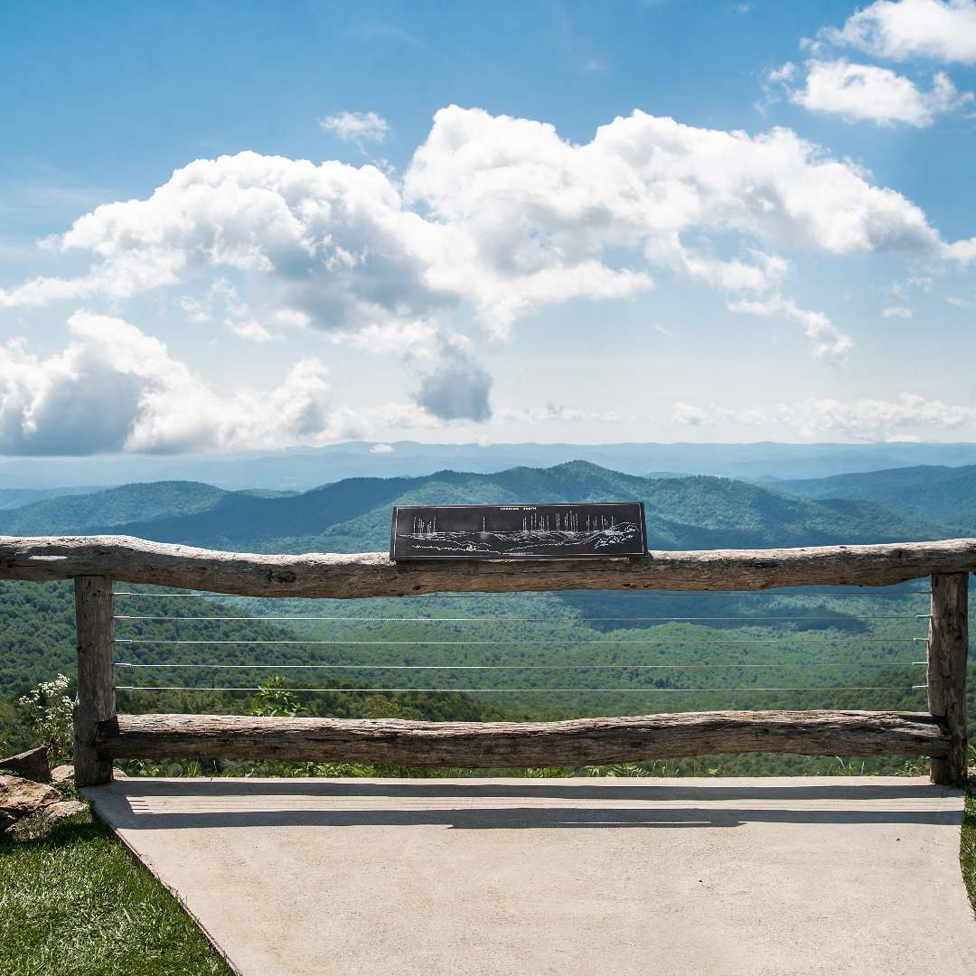 The Hitching Post Ceremony Site at Pisgah Inn on the Blue Ridge Parkway