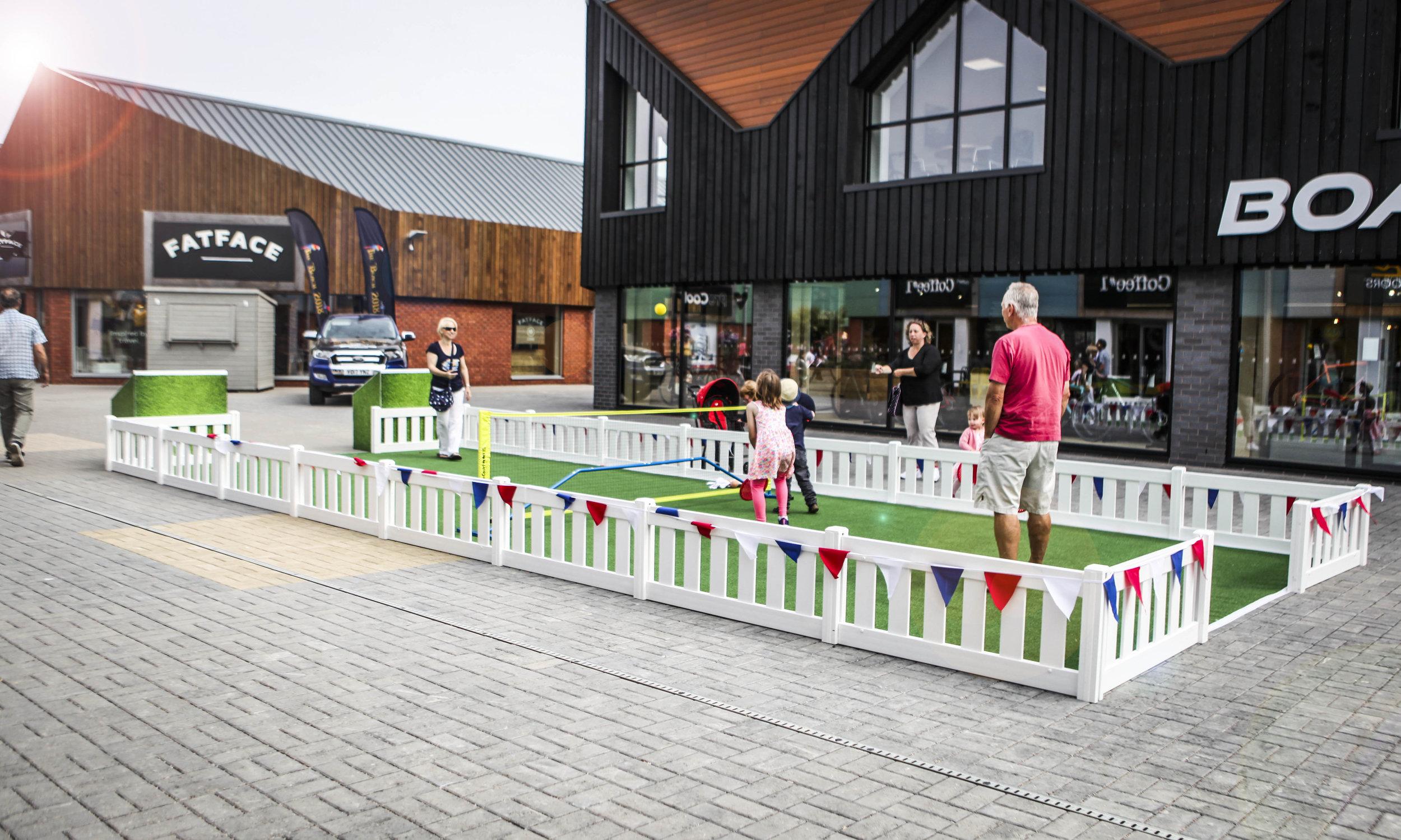 The Valley, Evesham pop-up short tennis court