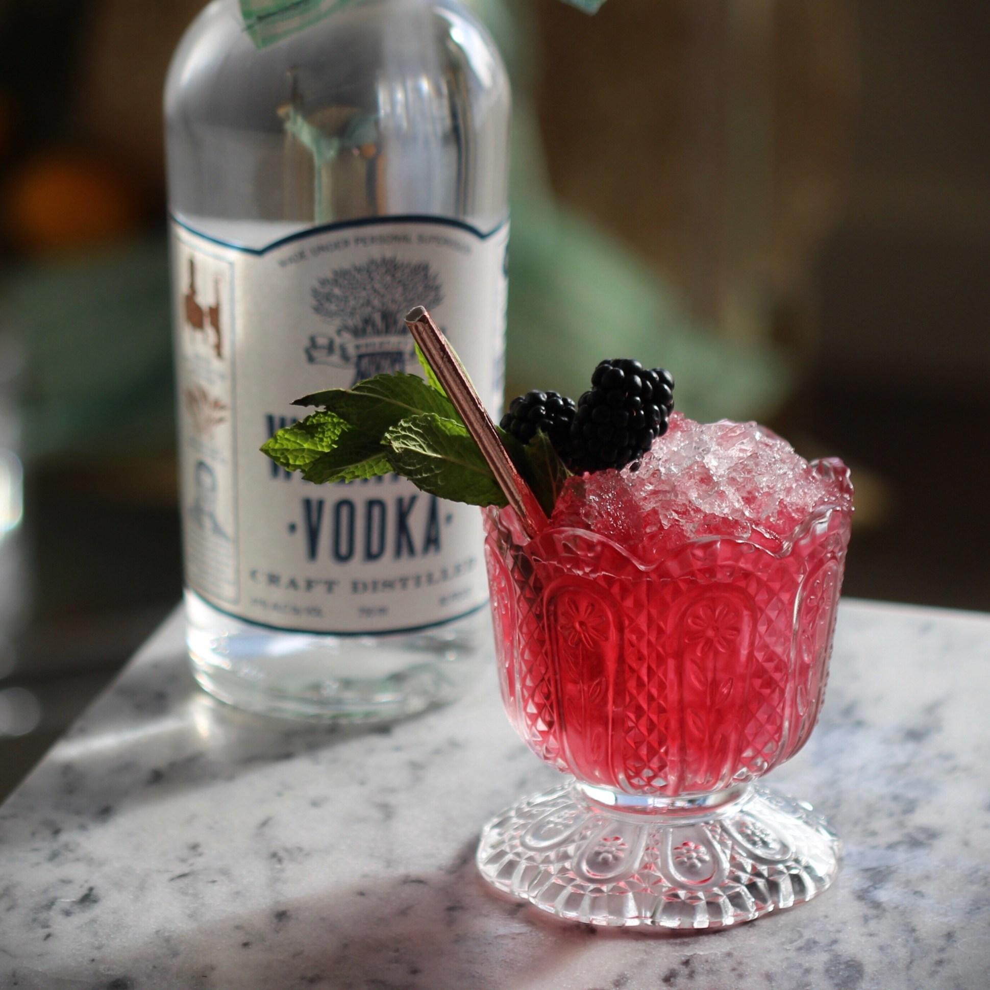 Wheatley Vodka blackberry Mint Julep -