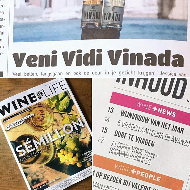 Veni Vidi VINADA!🥂 Scroll ⬅️ for the whole article! 🙏 @winelife_magazine  #winelife #vinada #article #review #alcoholfree #wine #health #booming #business #bubbles #cheers #lowcarb Meanwhile 400+ points of sale🤗 #checkourwebsite
