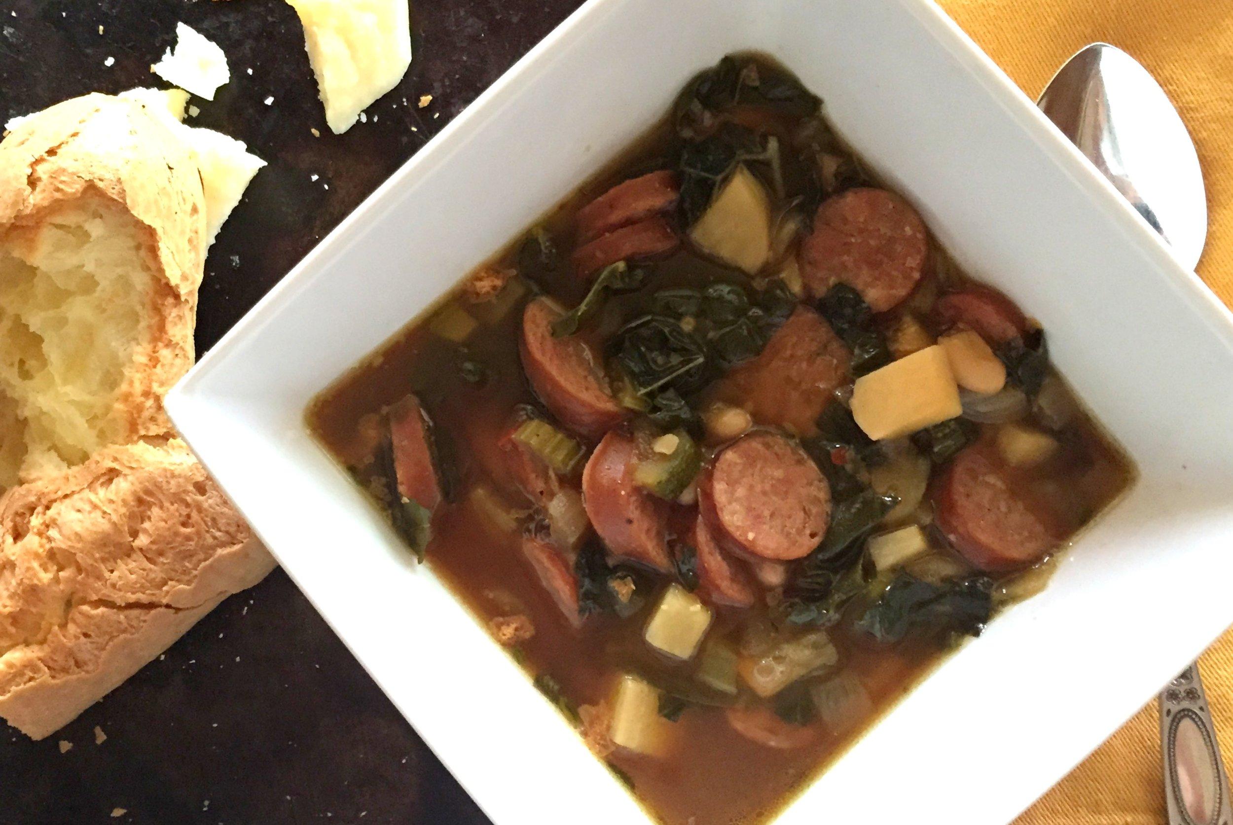 Sausage soup finish 2