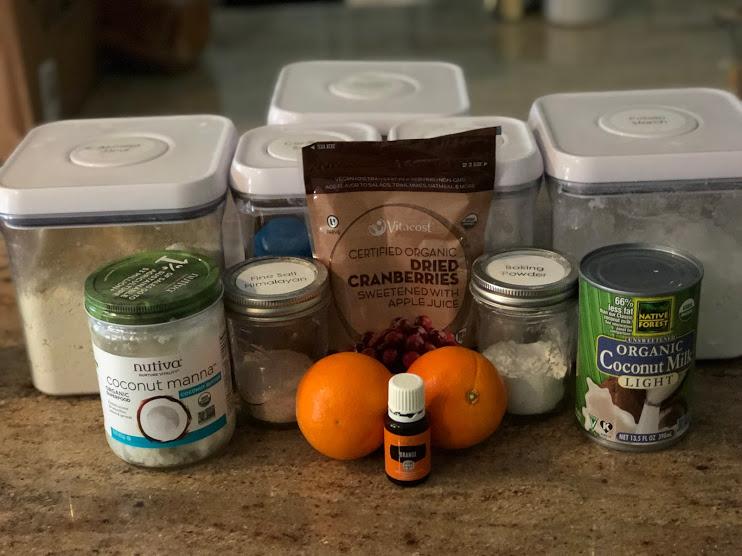 Clean Ingredients for Cranberry Orange Scones 3.0