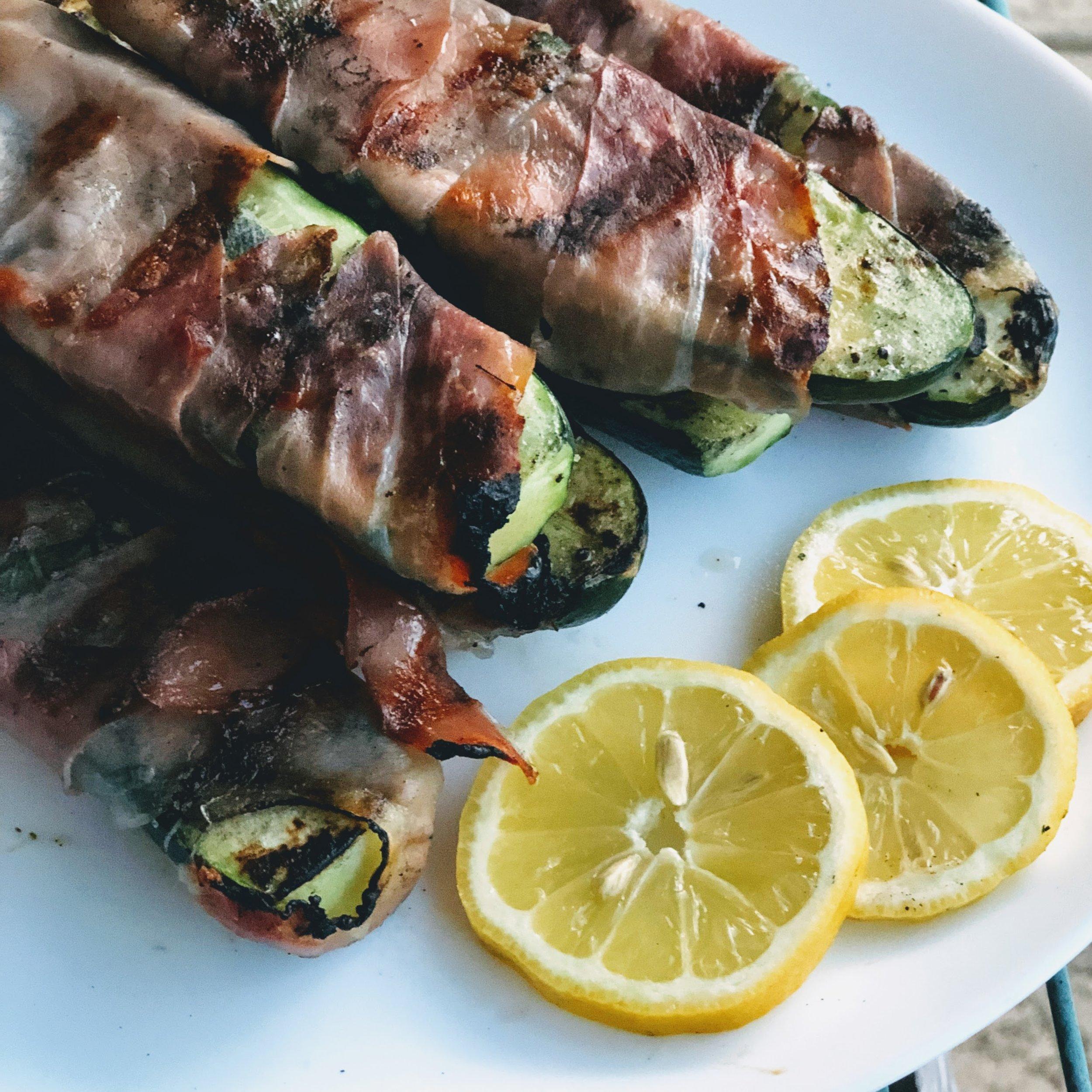 Grilled Zucchini Saltimbocca
