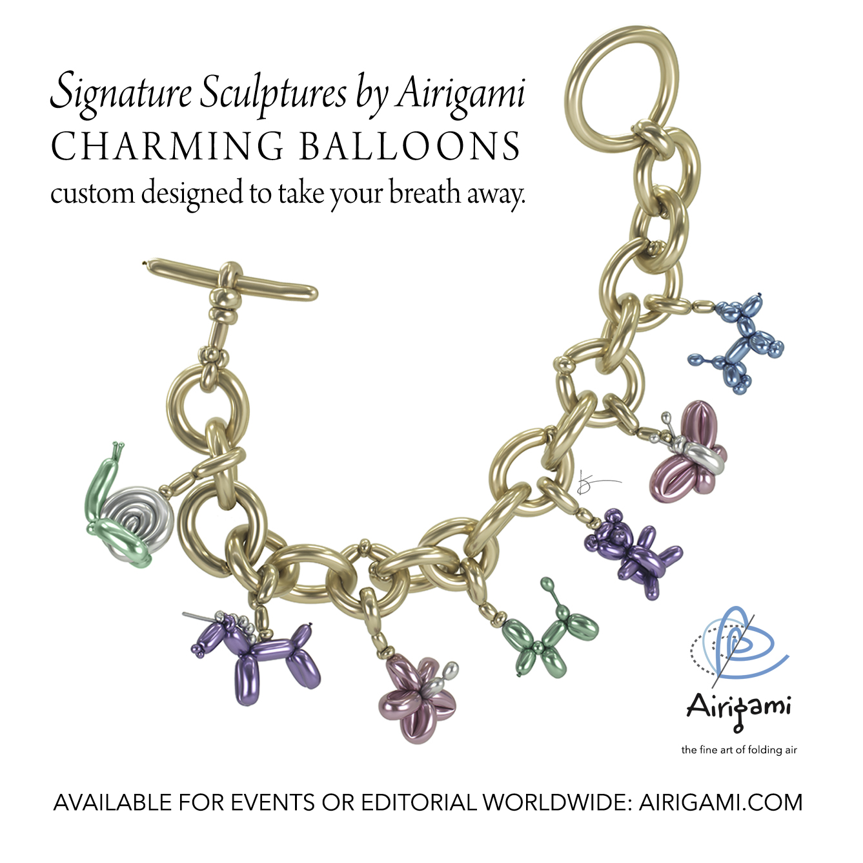 chrome balloon charm bracelet