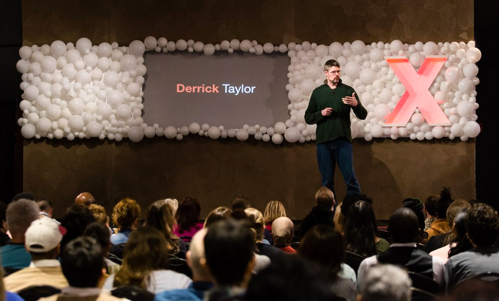 Derrick Taylor speaking on the importance of asking meaningful questions.