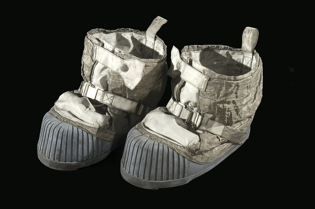 Apollo 11 lunar overshoes. Photo from Smithsonian Institution collection.