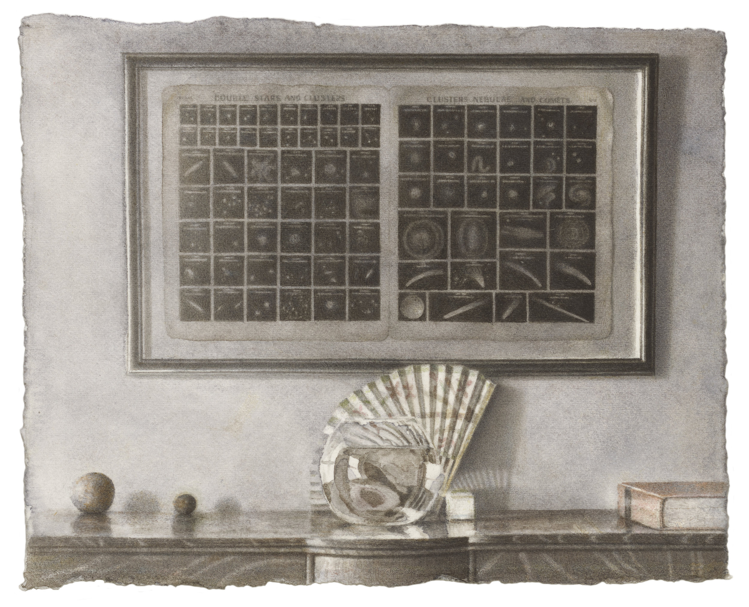 Astronomical Chart With Bowl and Fan
