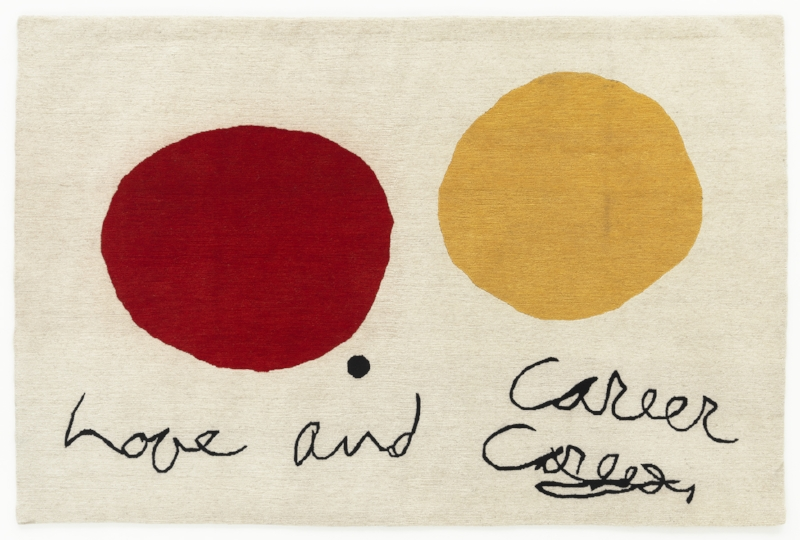 John Ashbery and Kenneth Goldsmith, Love and Career, 2014, 48 x 71 inches, handknotted Tibetan Highlands Wool.jpg