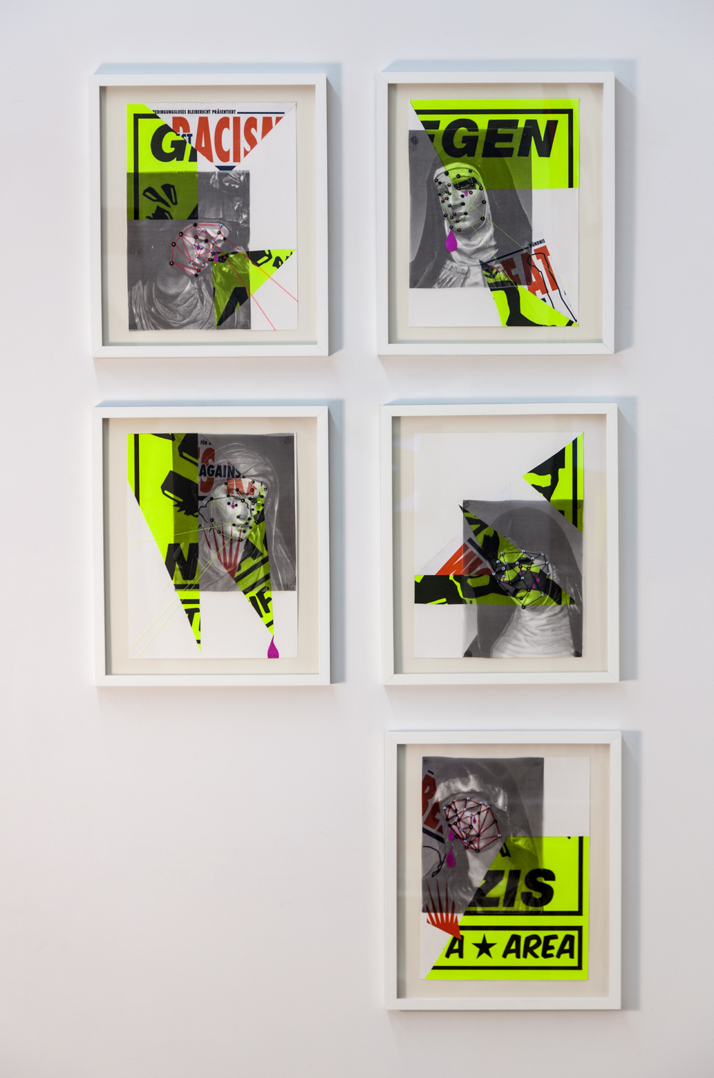 Installation image of works on paper