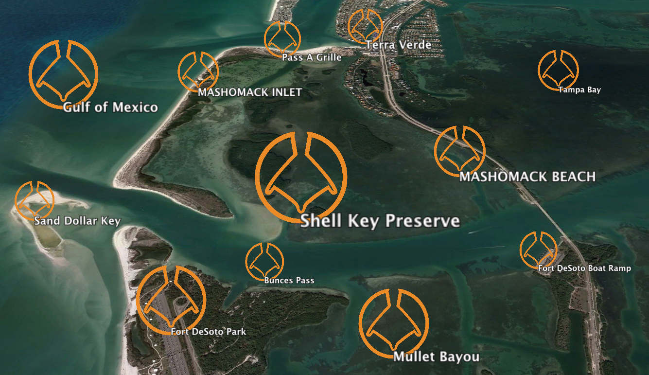 SUP - SHELL KEY - GUIDED: 3 HOURS - $150INDEPENDENT: 3 HOURS - $75(incl. inflatable board, paddle, PFD)