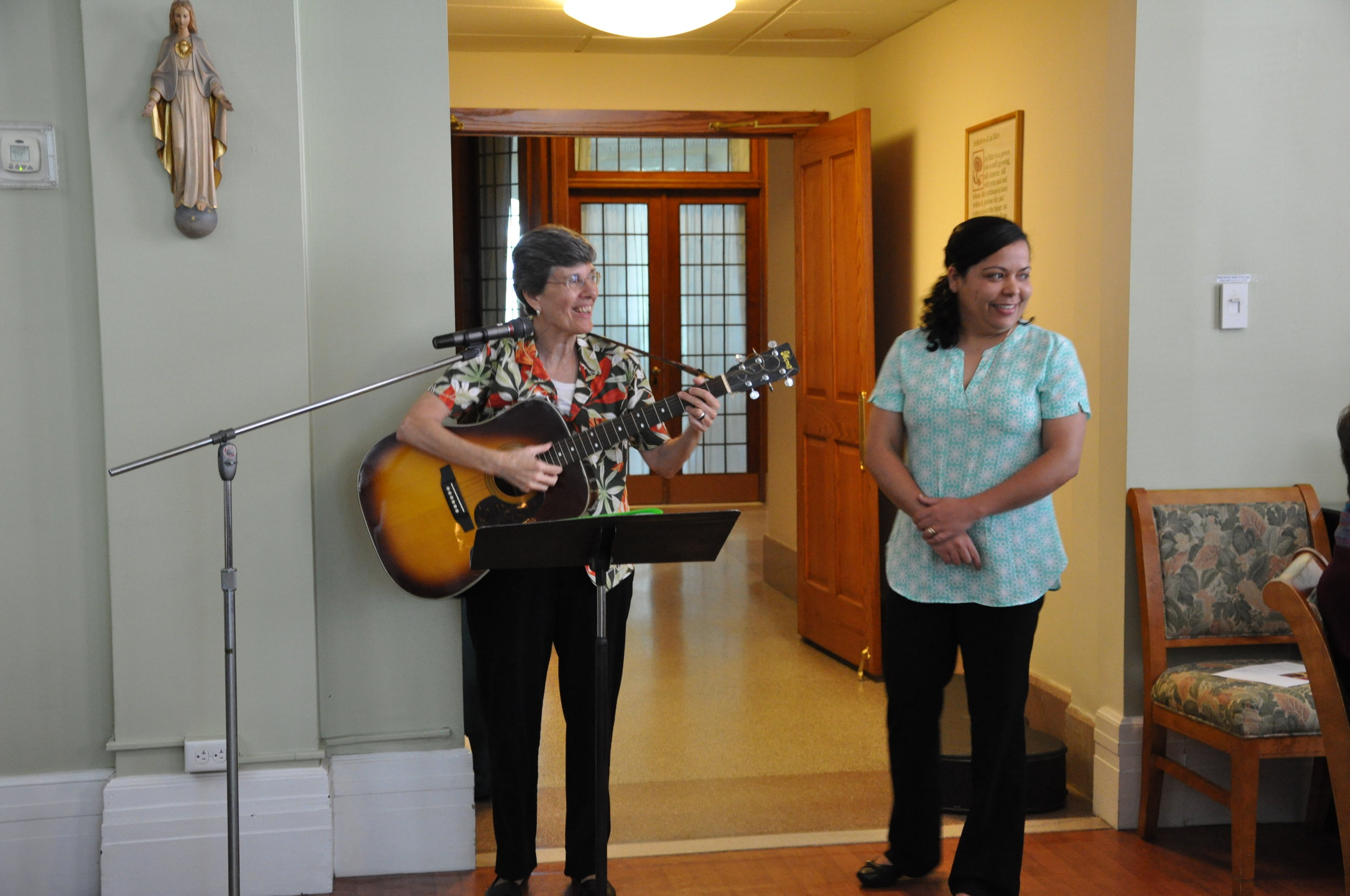 Sister Ines Gizzarelli  wrote 'Fernanda Farewell' to sing-along with the sisters before  Sister Fernanda  returned to her Province
