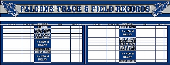 Custom School Record Board- $2500