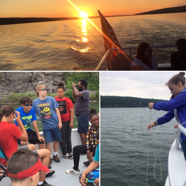 Enjoy the sunset as you learn a little about your lake!