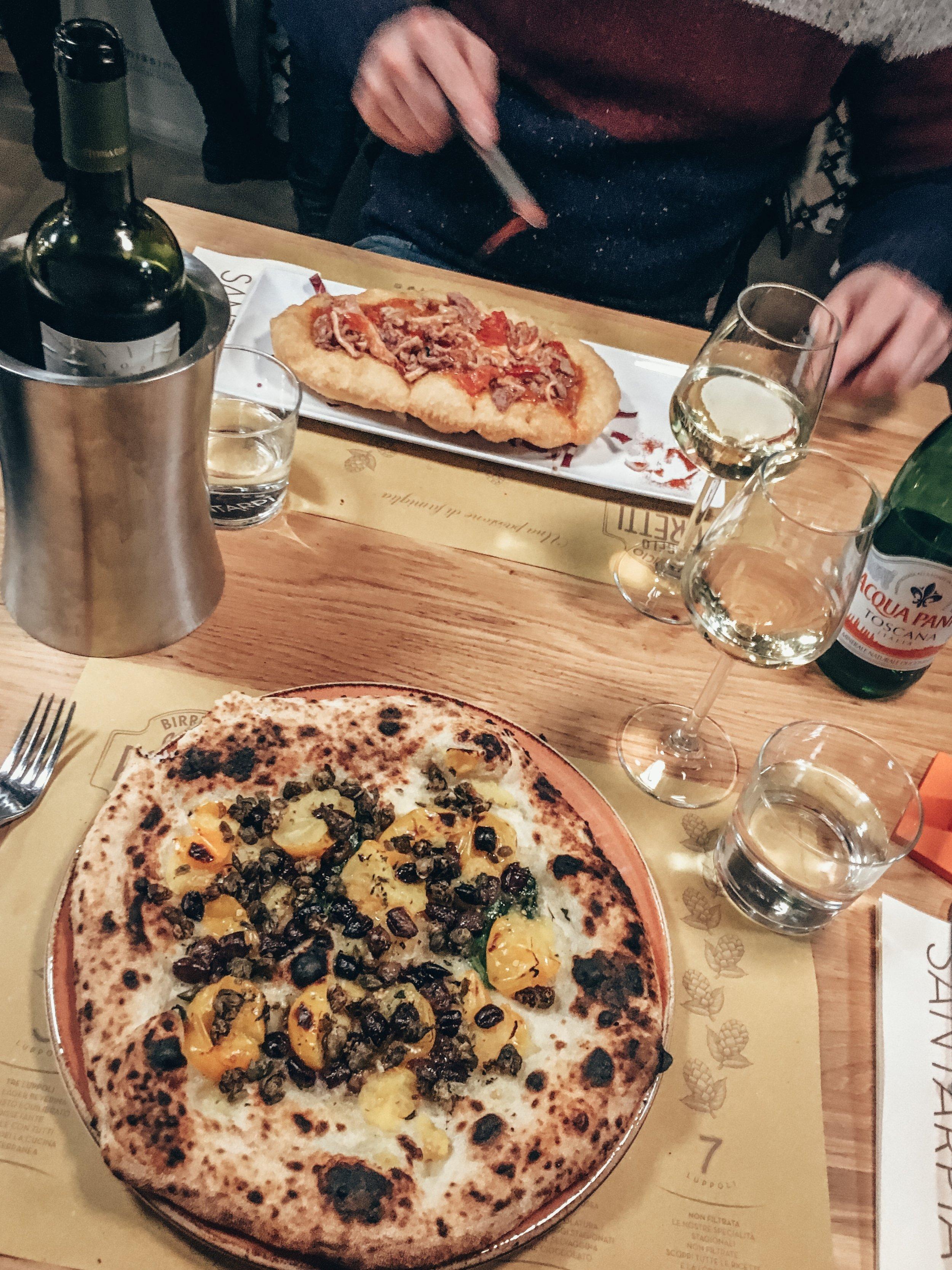 Pizza. Santarpia. Florence, Italy.