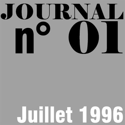 JOURNAL N°01 - JUILLET 1996