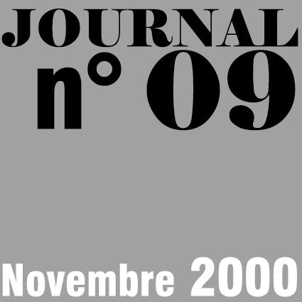 JOURNAL N°09 - NOVEMBRE 2000