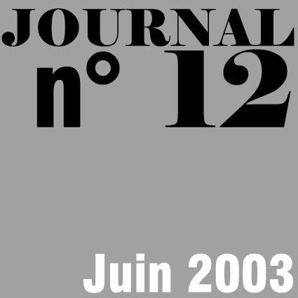 JOURNAL N°12 - JUIN 2002