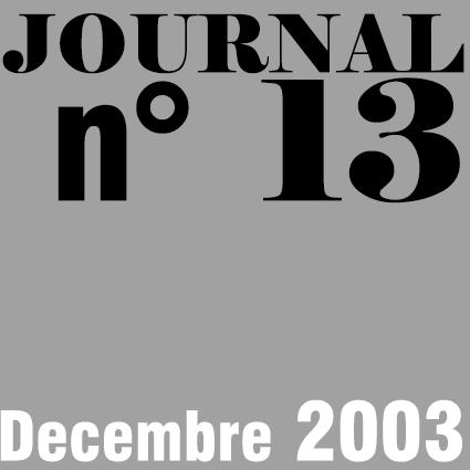 JOURNAL N°13 - DECEMBRE 2003