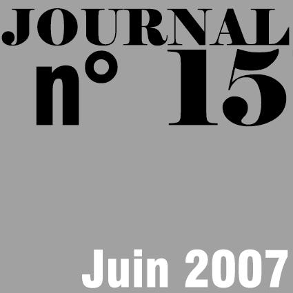 JOURNAL N°15 - JUIN 2007
