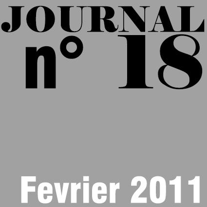 JOURNAL N°18 - FEVRIER 2011