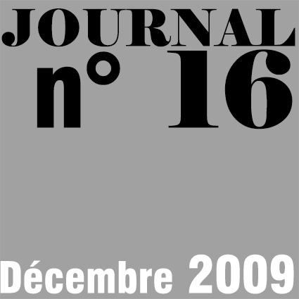JOURNAL N°16 - DECEMBRE 2009