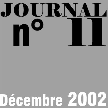 JOURNAL N°11 - DECEMBRE 2002